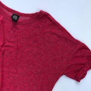 Bobeau Dark Pink Short Sleeve
